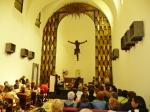 A punto de comenzar la eucaristía presidida por el nuncio.