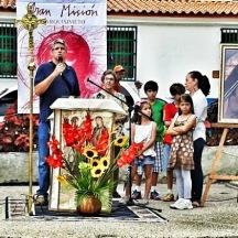 Mi familia y yo, dando testimonio del amor de Dios.