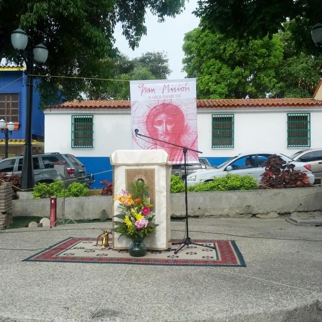 Desde aquí se le anunció el evangelio al pueblo de Santa Rosa.